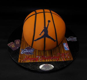 Basketball Custom Shape Fondant Cake