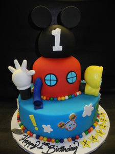 Mickey Mouse Club House Fondant Cake