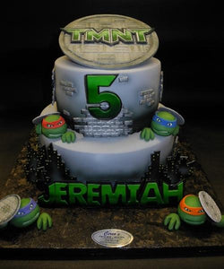 Ninja Turtle Fondant Birthday Cake, tmnt, turtles