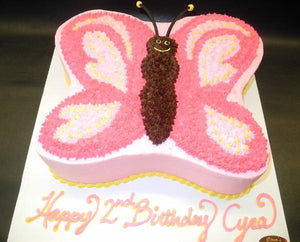 Butterfly Shape Cream Cake