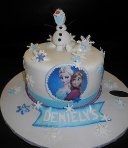 Frozen Fondant Cake with Edible Fondant 3D Cake