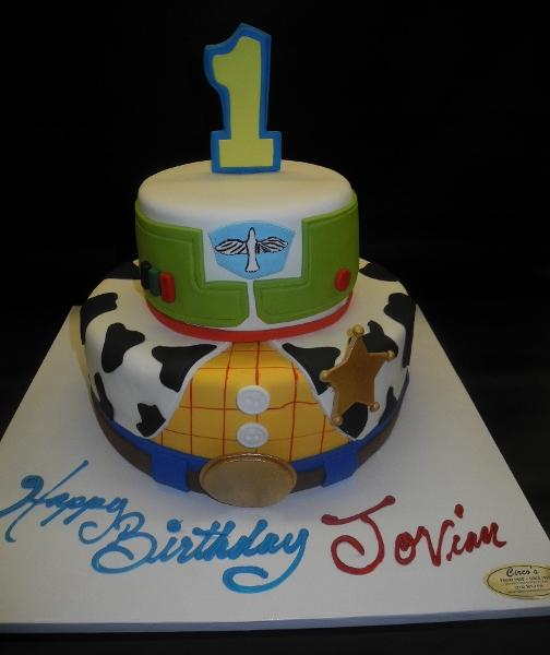 Toy Story Fondant 1st Birthday Cake