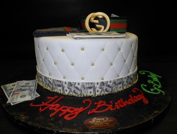 Gucci Fondant Cake with Edible Fondant Accessories