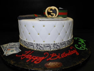 Gucci Fondant Cake with Edible Fondant Accessories , CS0197