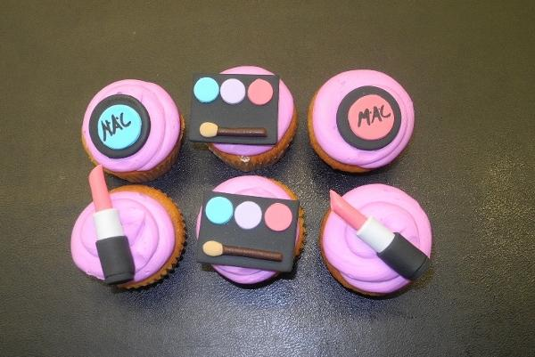 MAC make-up cupcakes