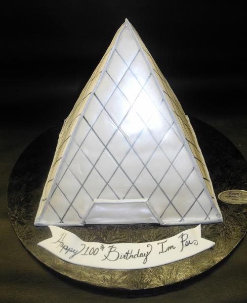 French Pyramid Custom Fondant Cake