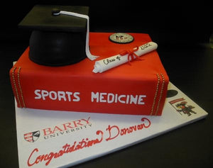 Medical Theme Graduation Book Cake