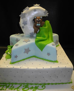 Star and Moon Baby Shower Cake