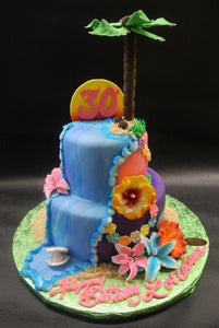Hawaiian Luo Out Cake