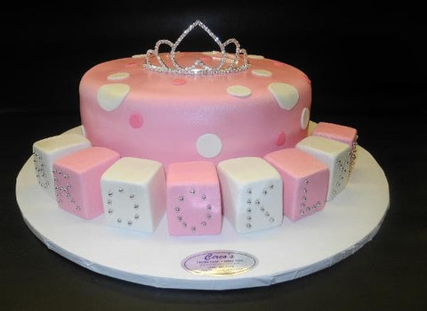 Blocks Princess Babyshower fondant cake