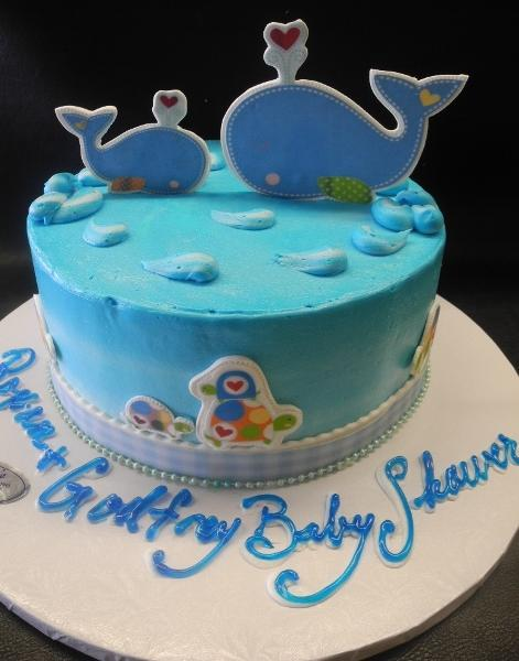 Whale 2D Icing Cake