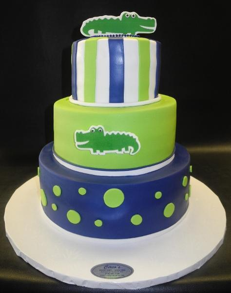 Alligator Birthday Fondant Cake