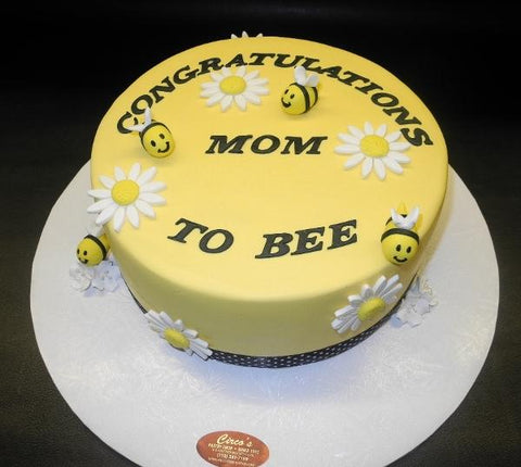 Bee Fondant Baby Shower Cake