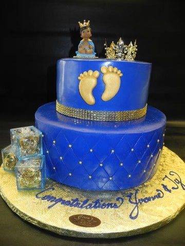 Royal Blue Prince Fondant Cake