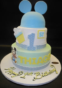 Amazing Mickey Mouse First Birthday Cake B0056 Circos Pastry Shop Funny Birthday Cards Online Fluifree Goldxyz