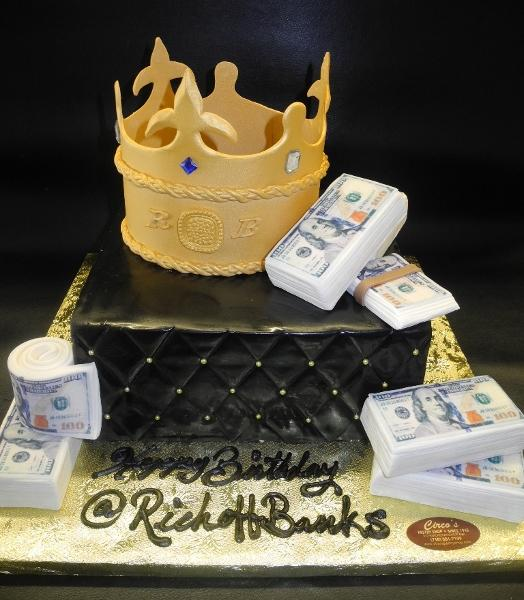King Fondant Cake with Edible Fondant Crown