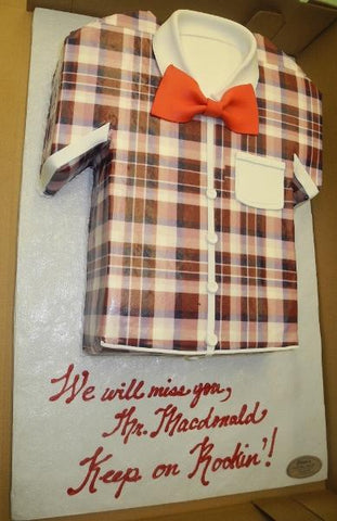 Plaid shirt Fondant Cake