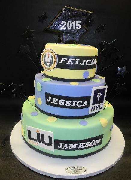 Graduation Pastel Colors Fondant Cake