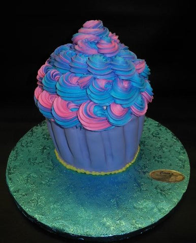 Purple and Pink Large Cupcake