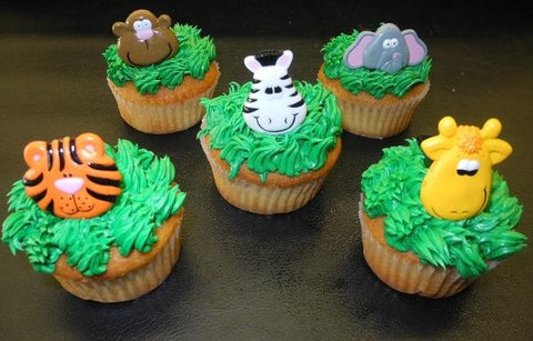 Safari Cupcakes with animal