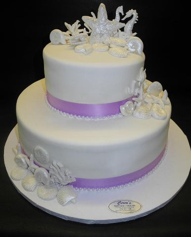 Sea Fondant Theme Wedding Cake