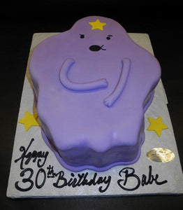Purple Star Fondant Cake