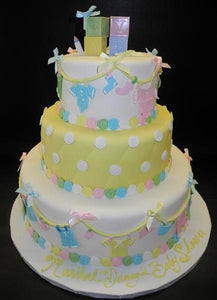 Pin clothes baby shower cake