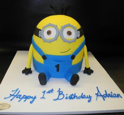 Minion 3D Shape Cake
