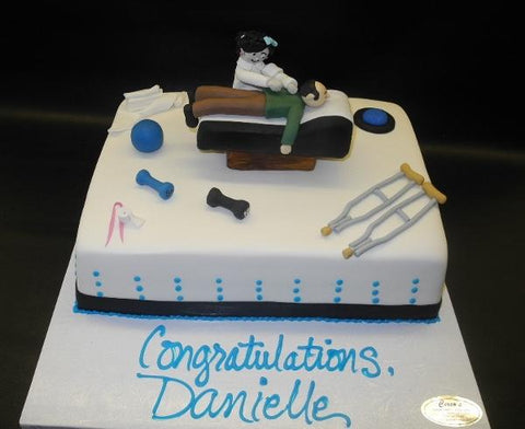 Physical Therapist Custom Cake with Edible 3D Decoration