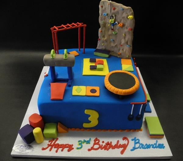Rock Climb Gym Birthday Cake