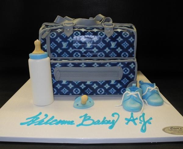 Diaper Bag Baby Shower Cake