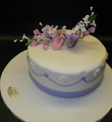 Wedding Lavender and White Cake