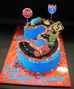 Products Tagged Number 3 Cake With Cars Decoration Circo S