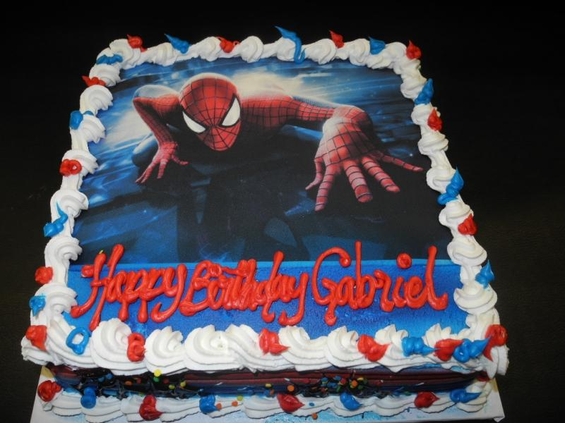 Spiderman, photo cake