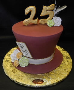 Pleasing Mad Hatter 25Th Birthday Cake Cs0159 Circos Pastry Shop Funny Birthday Cards Online Inifofree Goldxyz