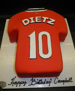 Manchester United Jersey Custom Cake