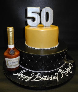 Peachy Hennessy 50Th Birthday Cake B0170 Circos Pastry Shop Funny Birthday Cards Online Barepcheapnameinfo
