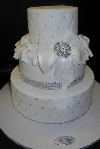 Diamond Imprint wedding cake