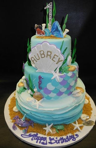 Mermaid theme Cake 870
