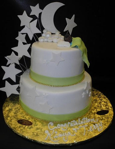 Star and Moon Baby Cake