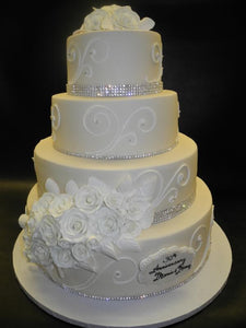 Suger Rose Wedding Cake