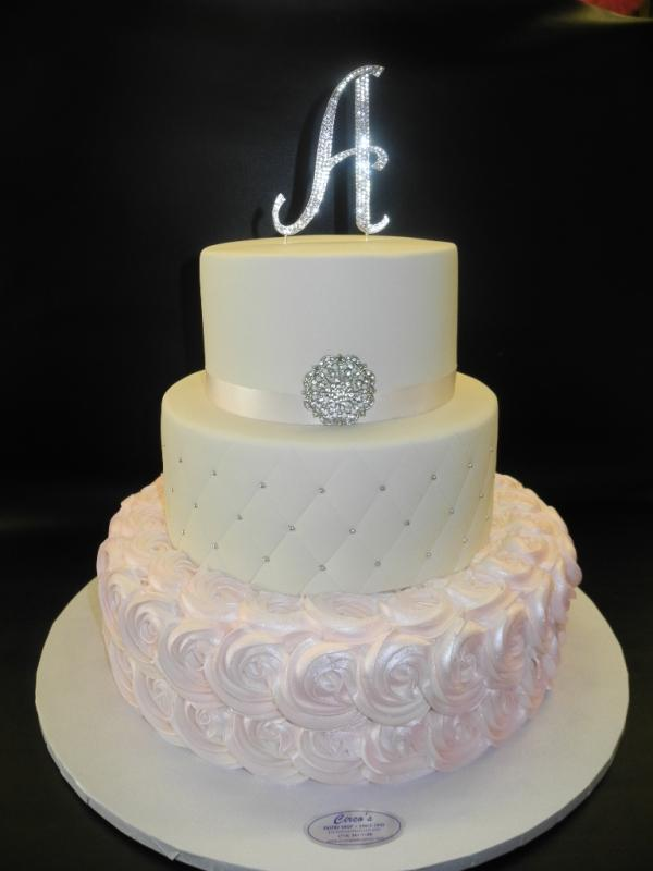 Rosette and Diamond Cake