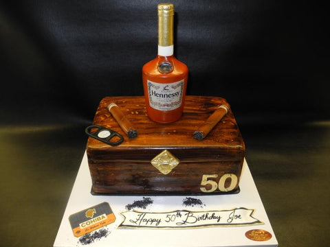 Hennessy and Cohiba Cake