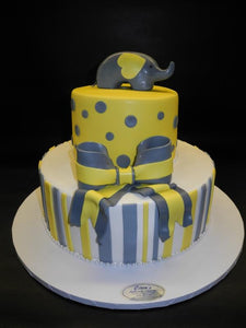 Elephant Baby Shower Cake Bs014 Circo S Pastry Shop