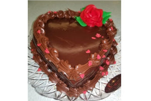 "Heart Shape 5"" Chocolate Mousse Valentine's Day - For Local Delivery or Curbside Pickup ONLY"