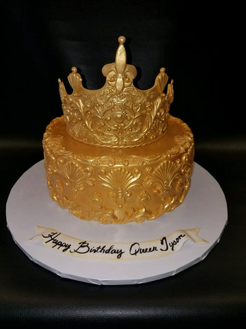 Gold Crown Cake B0848