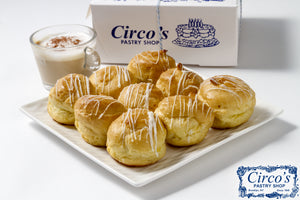 Cream Puffs Vanilla Custard (1 Lb Box about 9 pieces) For Local Delivery or Curbside Pickup ONLY