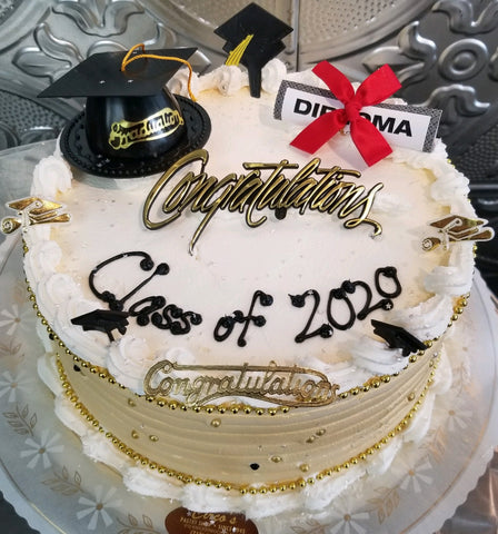 Graduation 9 inch Round Cake For Local Delivery or Curbside Pickup ONLY