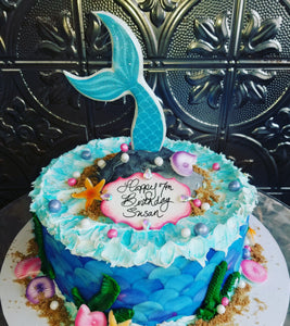 Mermaid themed cake B0868