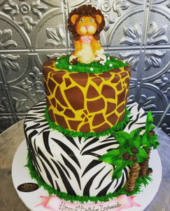 Jungle themed cake BS003